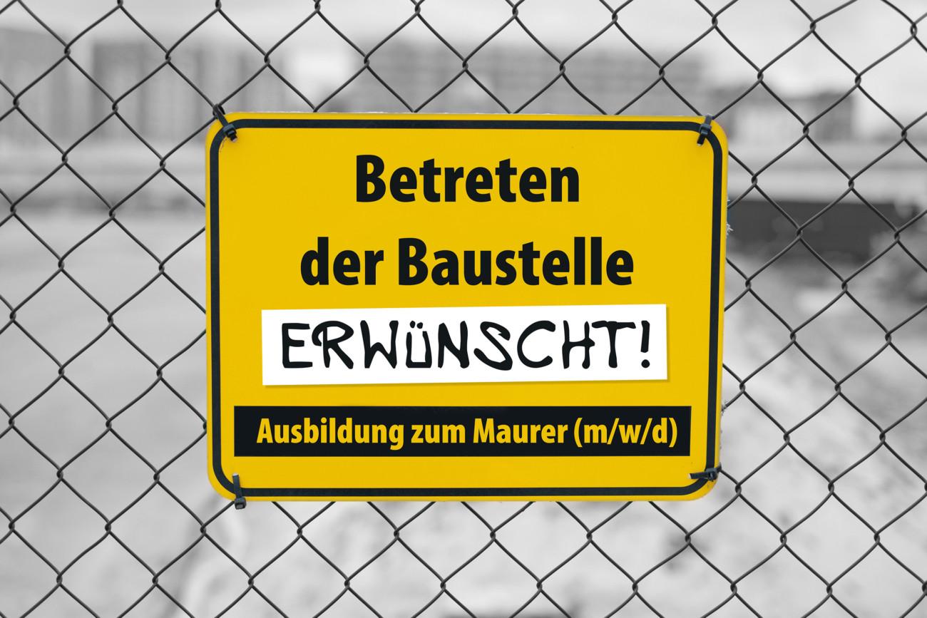 Ausbildung zum Maurer (w/m/d) bei Rinderer Bau in Schwarzenbach